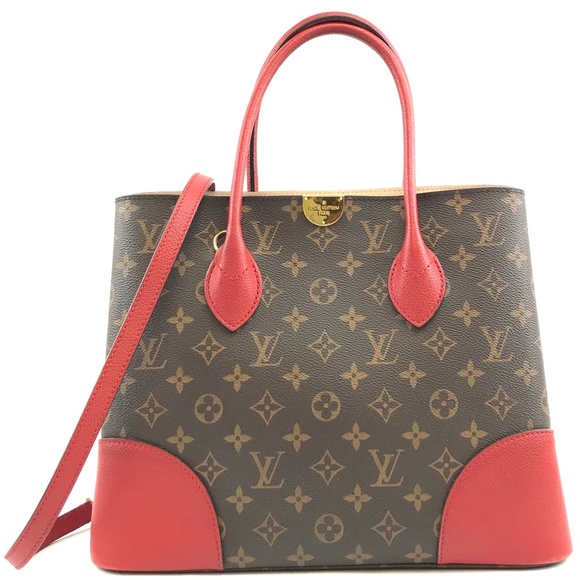 Louis Vuitton Handbags - Flanderin Red Leather Coated Canvas Shoulder Bag